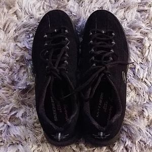 Ladies never worn black Skecher tie up gym shoe